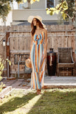 Bright Striped Maxi