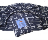 Blue Arrows Elastic Cushion Cover - Square Shaped