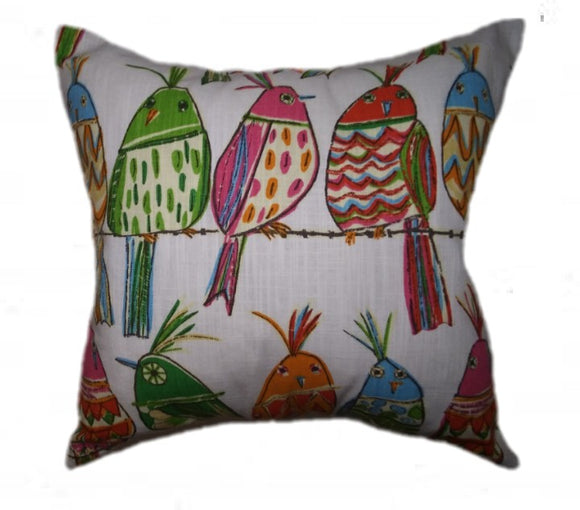 Rainbow Bird Pillow Cover