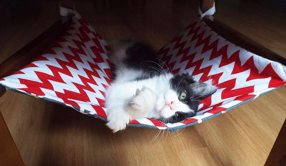 Chevron Cat Hammock Bed