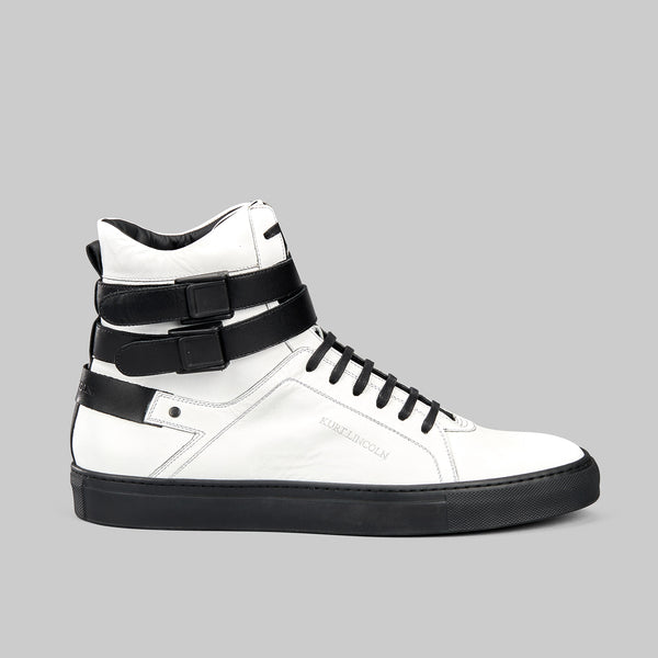 Boxer white high top sneaker