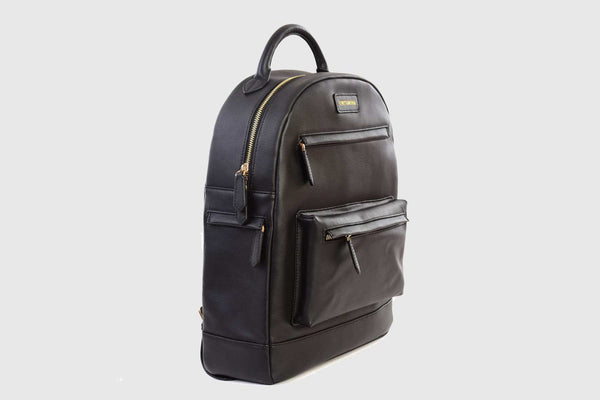 BLACK LEATHER BACKPACK - official website - shoes and accessories