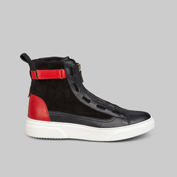PHANTOM BLK/RED HIGH TOP SNEAKER