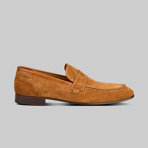 edward tan suede loafer