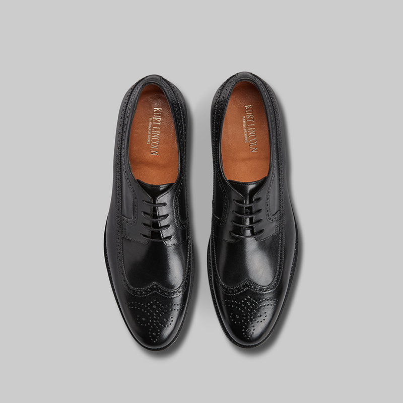 BLACK CALF LEATHER BROGUE - official website - shoes and accessories