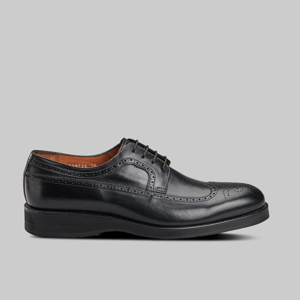 BLACK CALF LEATHER Derby