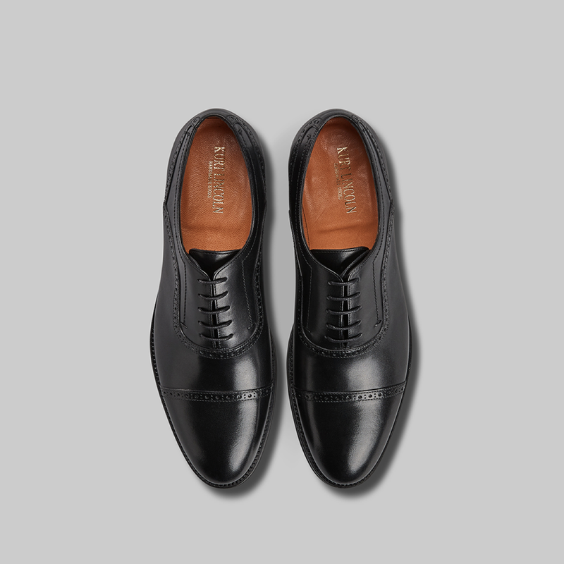 BLACK CALF LEATHER OXFORDS - official website - shoes and accessories