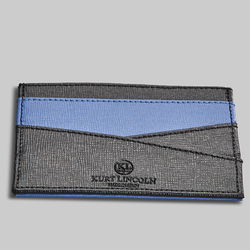 BLUE SAFFIANO LEATHER CARDHOLDER - official website - shoes and accessories