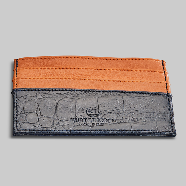 CROCODILE EMBOSSED AND CALF LEATHER CARDHOLDER - official website - shoes and accessories