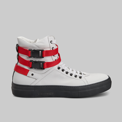 145 MM WHITE CALF LEATHER HIGH TOP SNEAKERS - official website - shoes and accessories