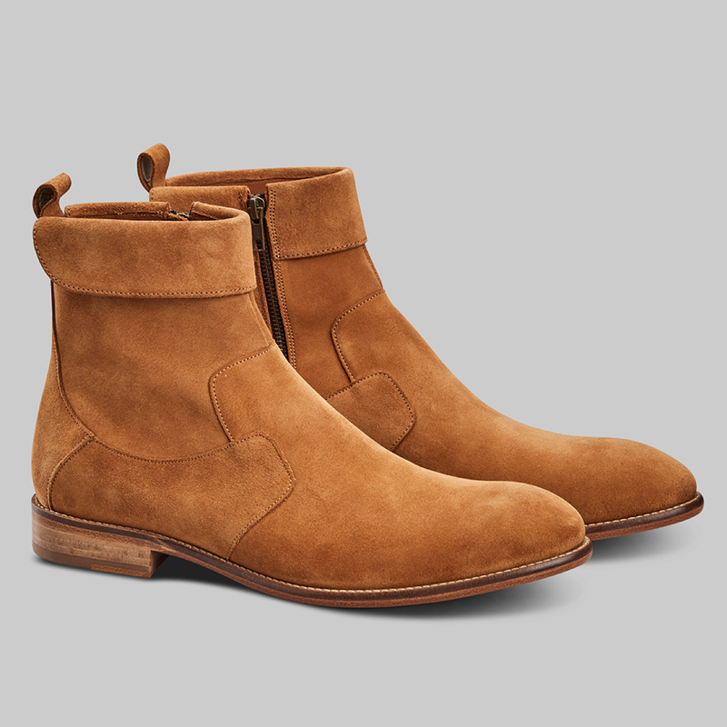 CALF SUEDE LEATHER BOOTS - official website - shoes and accessories