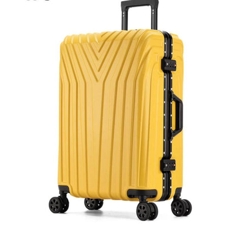"Durable Suitcase Sizes 20""22""24'26""29"" Aluminum and PC Options."