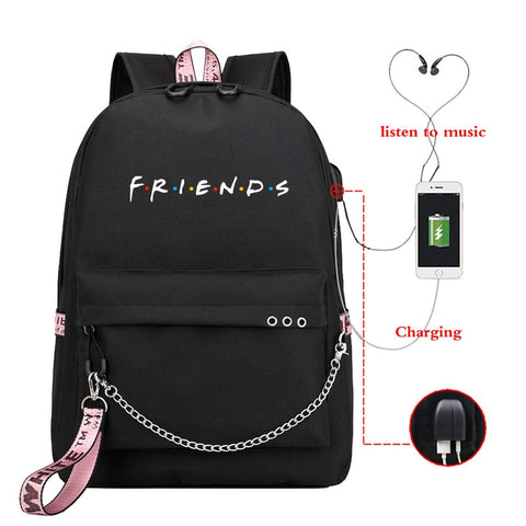 Friends USB Charge Backpack