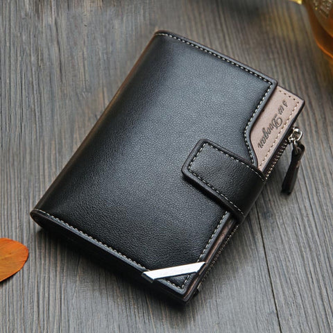 New Business Men's pu Leather Wallet