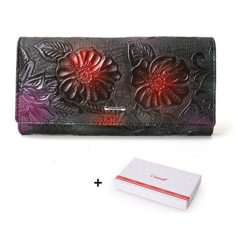 Genuine Embossed Leather Wallet by Cossroll Designers