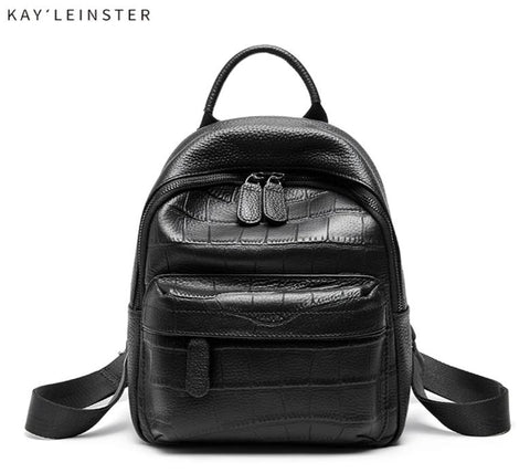 100% Genuine Leather Classic Backpack