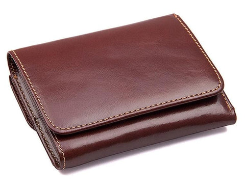 Genuine Leather Mens Wallet with RFID Blocking Technology