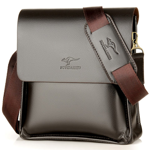 Luxury Kangaroo Brand Leather Messenger Bag