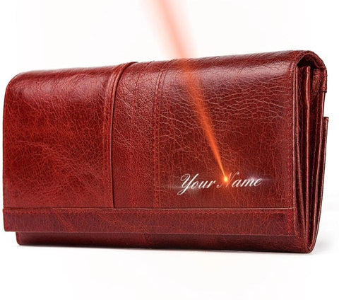 Genuine Leather Women's Fashion Clutch Wallet