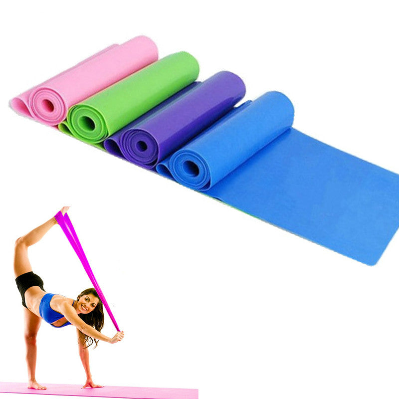 New Unisex Stretchy Resistance Band Straps Fitness Yoga Gym Pilates