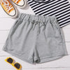 Fashion Casual Women's Tie Front Shorts