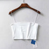 Sexy Square Neck Basic Camis Women Summer Solid Color Cropped Tank Tops Cool Girls Streetwear Thin Strap Elastic Crop Top