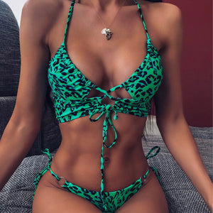 Women High Waist Bikini Swimsuit Swimwear Female Bandeau Thong Brazilian Biquini Bikini Set Bathing Suit Bather