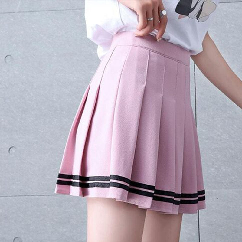 Women Girls Lolita A-line Sailor Skirt Large Size Preppy School Uniform