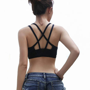 Hot Selling ! Sexy Women Padded Top Athletic Vest Fitness Movement Sports Bra Yoga Top Aptitud Bra Popular