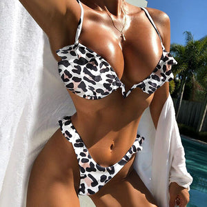 Sexy Bikini Swimwear Women Print Swimsuit Push Up Bikini Set Brazilian Bathing Suits Beach Wear Swimming Suit