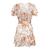 Ruffles Party Chiffon Women Dress Vestido Floral Bow Tied Short Dresses Sexy Dress