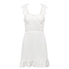 Ruffles Party Short Sexy Dress Women Feminino Vintage Beach Dress Elegant Casual Dresses
