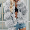 Women Warm Faux Fur Jacket Coats Female Patchwork Faux Fur Coats Ladies Plus Size Fluffy Outerwear
