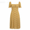 Off Shoulder Yellow Casual Dress Ruffles Cotton Boho Women Dress Dot Mini Sexy Beach Dress