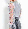 Sexy Club Casual Women Blouse Shirts Polka Dots Casual Feminino Mesh Plus Size Blouse Shirt Knitted Blusas Mujer