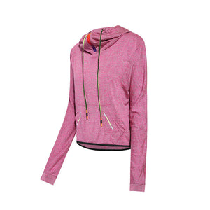 Fitness Sportswear Women Sports Running Shirt Long Sleeve Quick Dry Yoga Wear Training Fitness Hooded Jacket