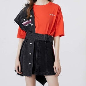 Fashion Casual Women's Letter Embroidery Short-sleeved T-shirt