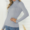 Women Fashion Turtleneck Bodycon Pullover Female Casual Pit Sweater Tops Ladies Plus Size Jumpers