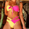 Woman Swimsuit Push Up Sexy Bikini Mujer New Bandage Neon Swimwear Women Bathing Suit High Cut Extreme Bathers