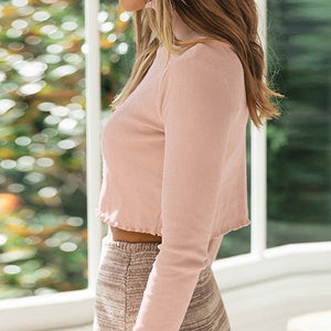 Knitted Sweater Women Solid Sexy Crop Sweater Feminino Club Short Ladies Ruffles Pullovers