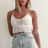 White Lace Sexy Tops Camis Shirt Women Sexy Summer Club Camis Crop Tops Shirts Backless Casual Beach Shirt