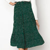 Polka Dot High Waist Long Skirts Women Vintage Pleated Skirt Ladies Skirt
