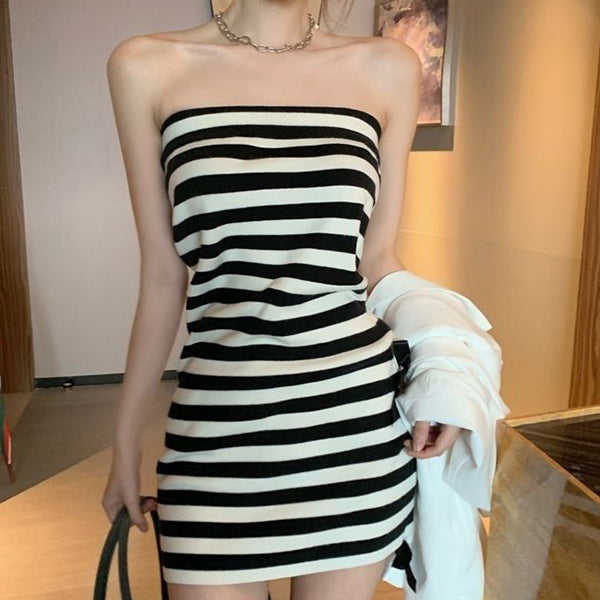 Dress Female  Version of Slim and Thin All-match Sexy Sleeveless Inner Wear Women's Bag Hip Skirt