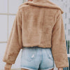 Women Fashion Solid Color Faux Fur Coats Female Warm Artificial fur Short Jackets and Coats Lady Casual Outerwear