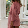 Women Solid Color Thin Short Dress Female Casual High Waist Bell Sleeve Beach Cover up Vestidos Large