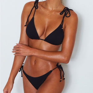 Women Bikinx Triangle Bikini Micro Two-piece Suit String Swimsuit Female Sexy Swimwear Bathing Suit Biquini