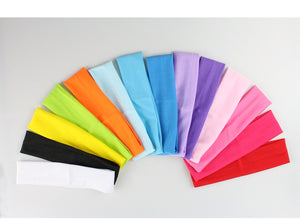 Elastic Yoga Hair Bands Cotton Yoga Accessory Running Sports Headband Sweat-absorbent Fashion Headband