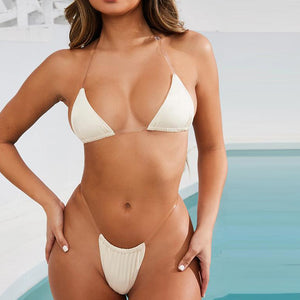 Sexy Micro Bikinis Mujer Triangle Bikini Set Brazilian Swimsuit Female Bathers High Cut Swimwear Women Bathing Suit