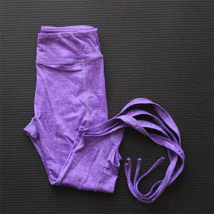 Sexy Pink Yoga Pants Ballet Spirit Bandage Infinity Turnout Leggings for Women Lavender for Dance