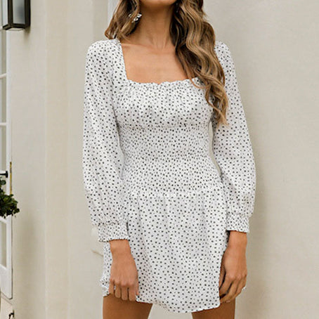 Sexy Beach Party Vintage Dress Women Casual Dresses Twist Short Square Elegant White Dress Vestidos